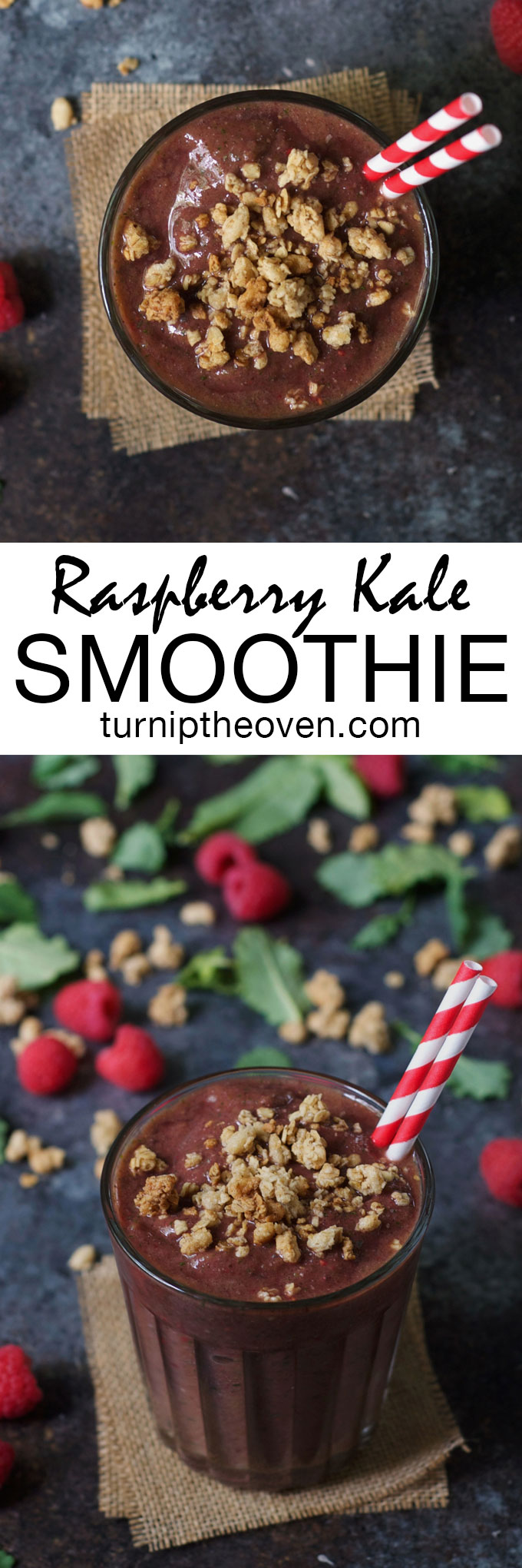 Coconut water makes this healthy vegan, gluten-free raspberry kale smoothie incredibly refreshing and super hydrating. The perfect post-workout breakfast or snack!