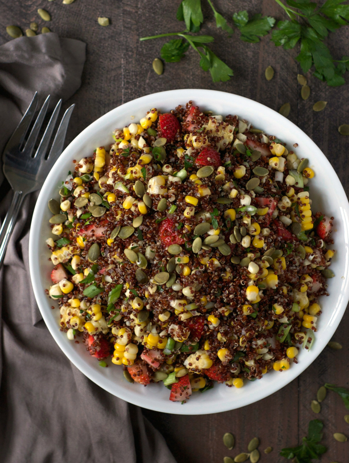 Strawberry Corn Quinoa Salad
