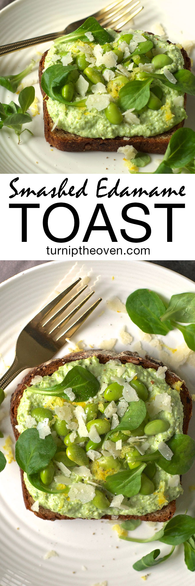 Move over avocado toast! This rich and creamy smashed edamame toast with ricotta and Parmesan is loaded with healthy protein. Perfect for a healthy breakfast, lunch or dinner.