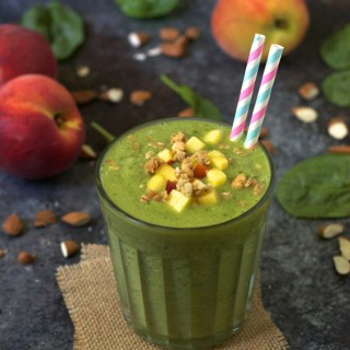 Almond Peach Green Smoothie