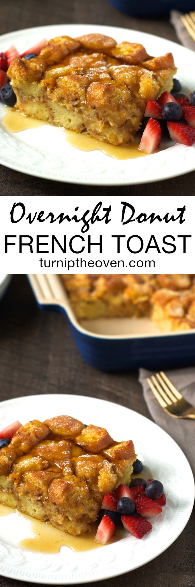 Donuts replace the bread in this indulgent French toast casserole that makes the perfect special occasion breakfast! It couldn't be easier--everything is prepped the night before, then just bake in the morning and top with lots of maple syrup.