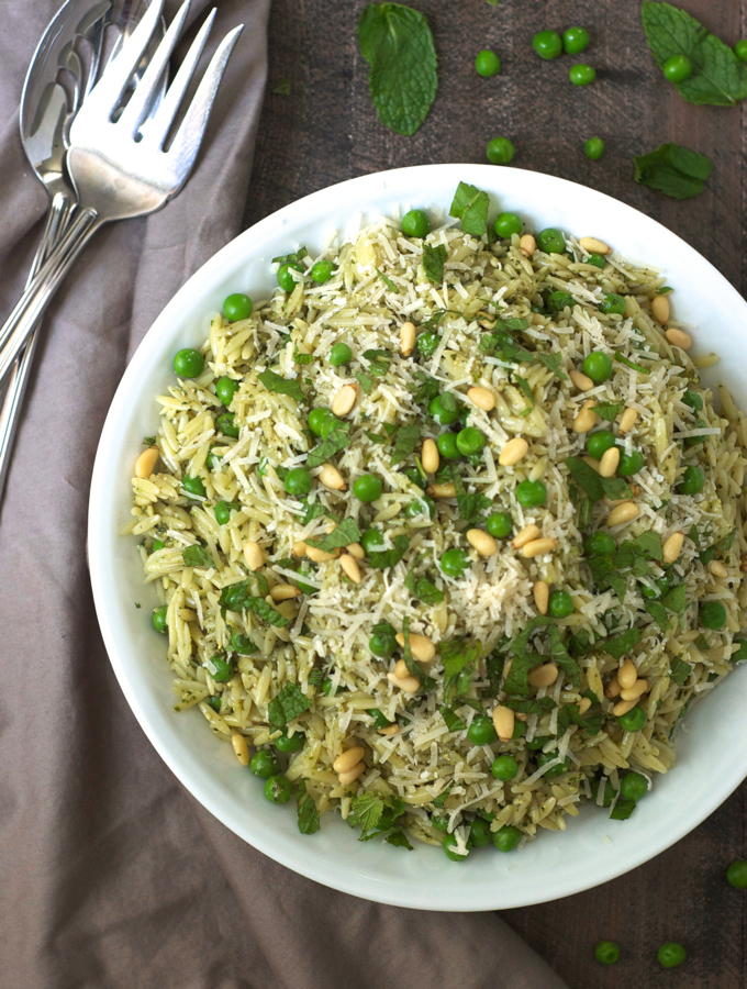 Orzo with Mint Pesto and Peas – Turnip the Oven