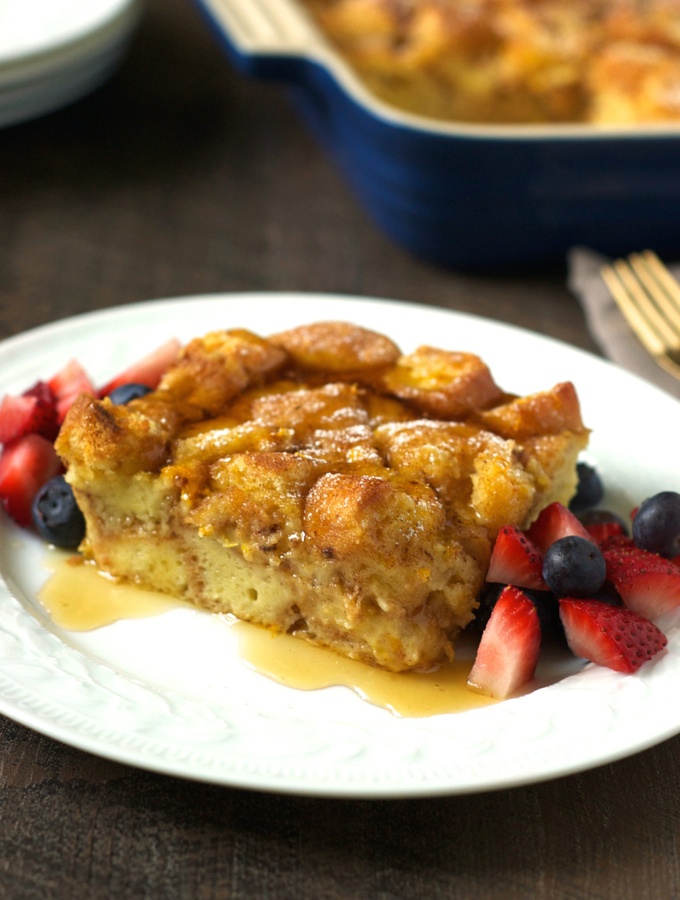 Overnight Donut French Toast Casserole