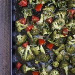 Caprese Roasted Broccoli