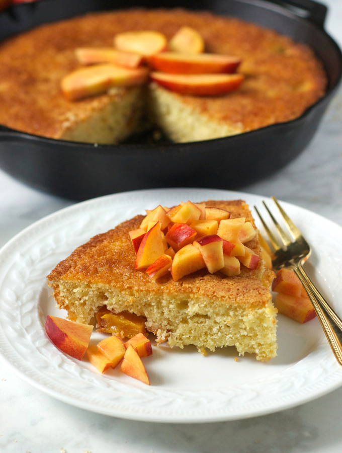 Nectarine Skillet Cake