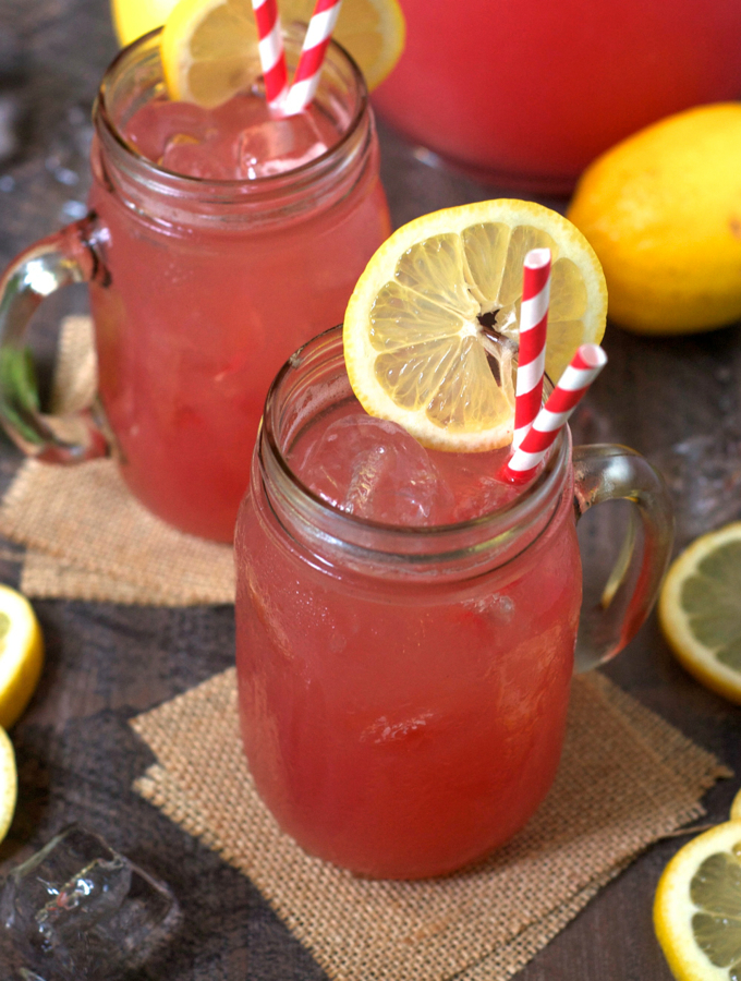 Refined Sugar Free Watermelon Lemonade
