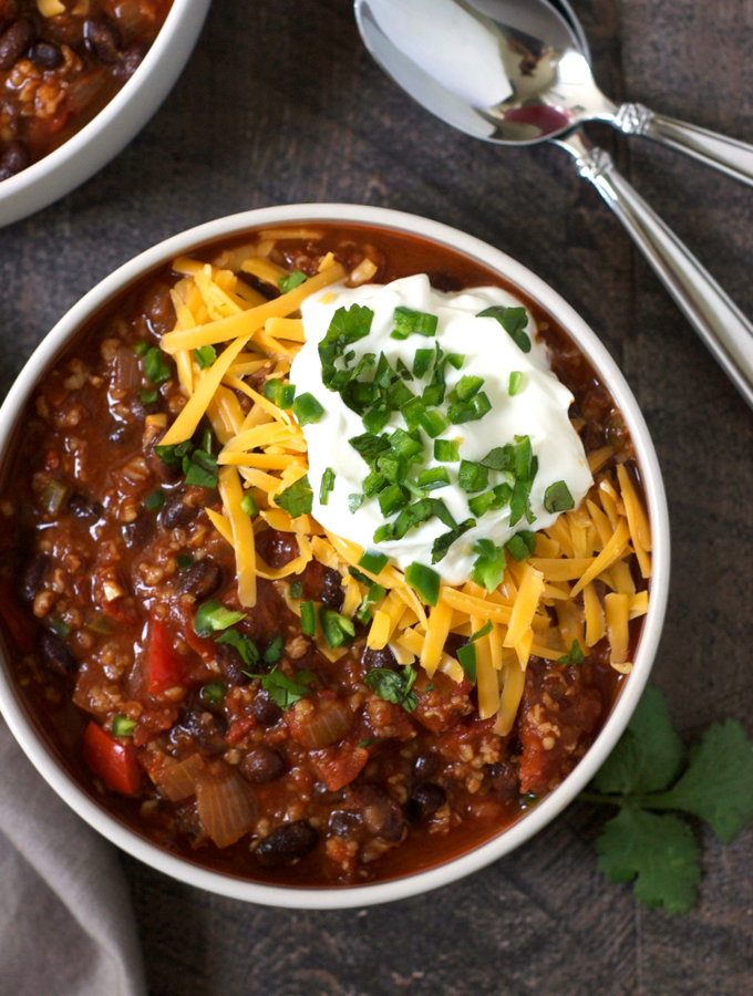 Vegetarian Bulgur Chili