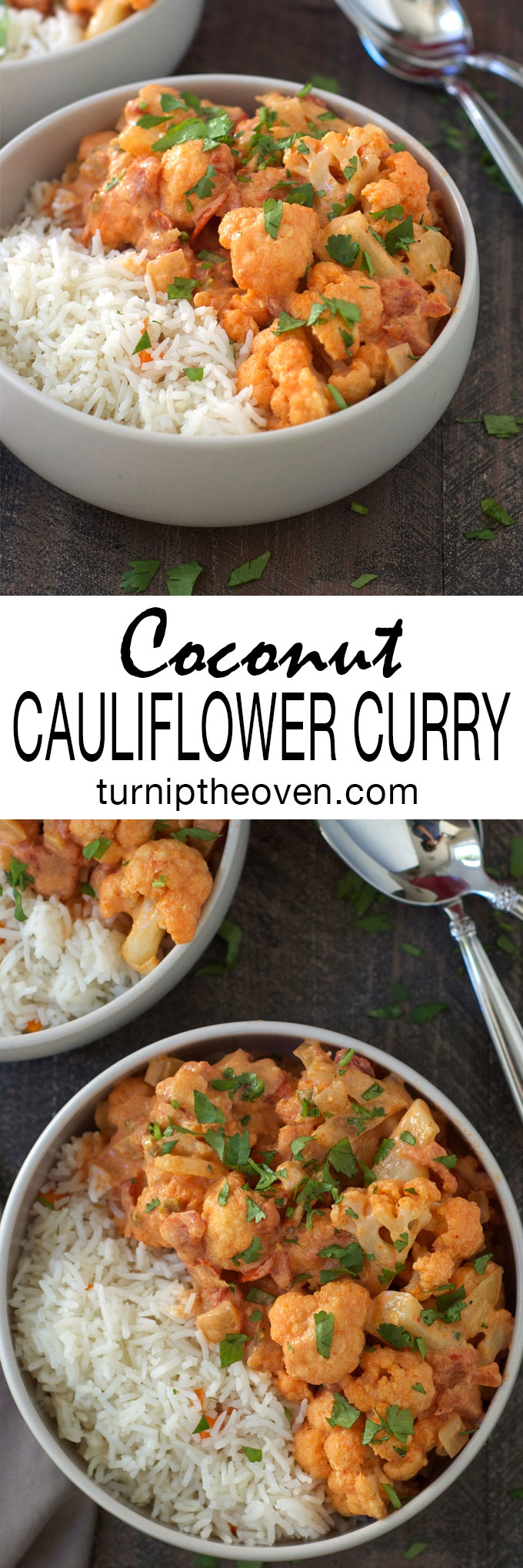This coconut cauliflower curry is the perfect healthy, vegan, and gluten-free weeknight meal--with a little bit of spice!