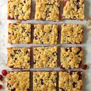Cranberry Almond Shortbread Bars