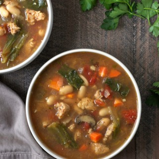 Chicken Sausage, Escarole and White Bean Soup