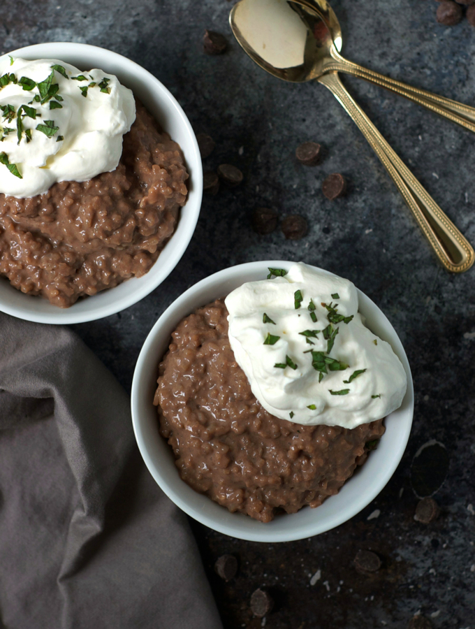 Easy Leftover Chocolate Rice Pudding