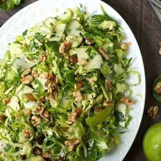 Apple Brussels Sprout Slaw with Creamy Honey Mustard Dressing