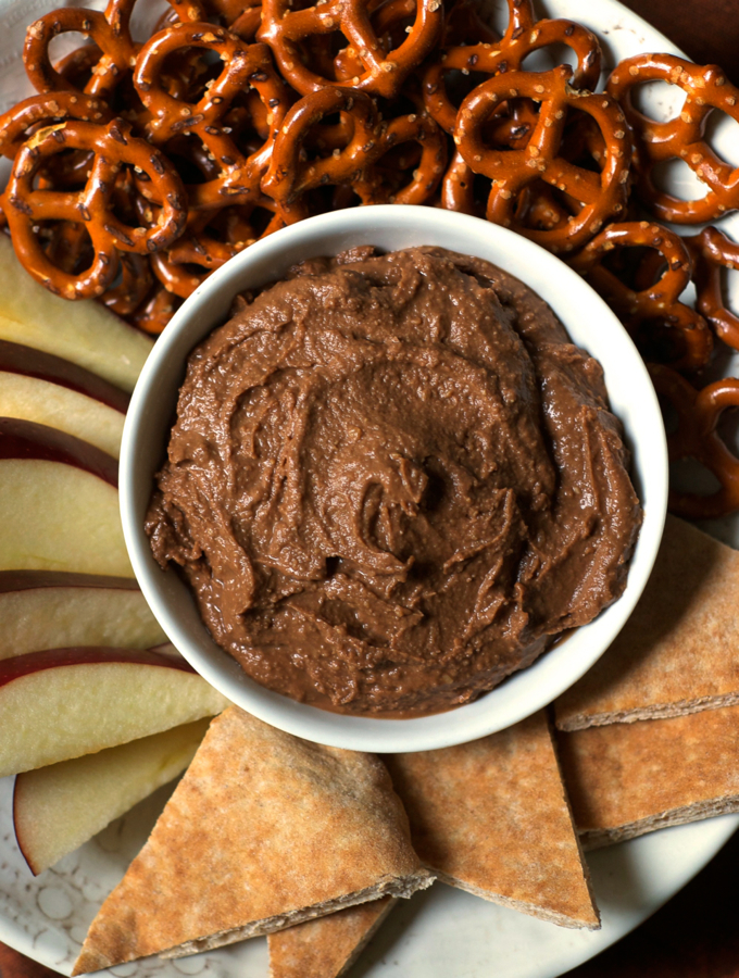 Magic Five Ingredient Chocolate Hummus
