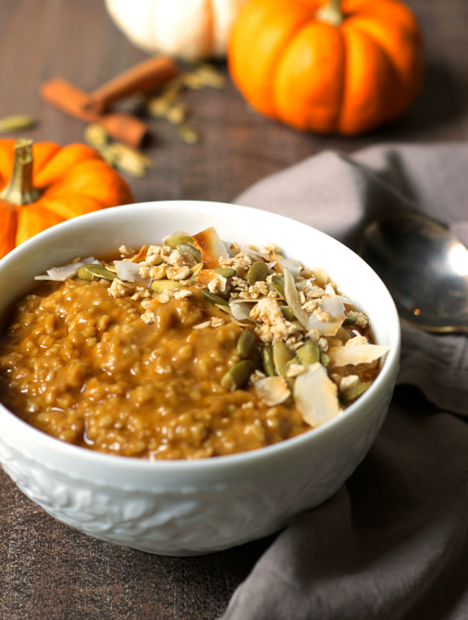 Pumpkin Chai Steel Cut Oatmeal