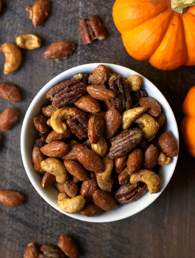 Salty Sweet Pumpkin Spice Nuts