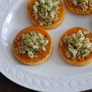 Butternut Squash Rounds with Hazelnut-Apple Gremolata