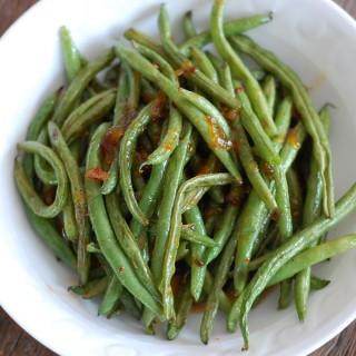 Green Beans with Sriracha and Orange Marmalade