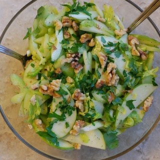 Celery, Green Apple, and Walnut Salad