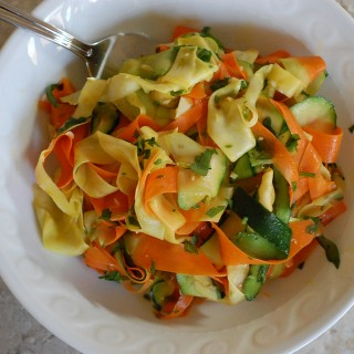 Vegetable Ribbons with Garlic and Lime