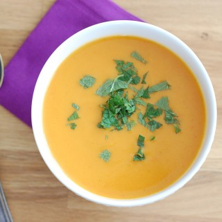 Carrot Soup with Orange, Cinnamon, and Ginger