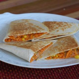 Sweet Potato and Corn Quesadillas