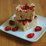 Strawberry and Toasted Coconut Rice Krispie Treats