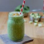 Vegan zucchini smoothie
