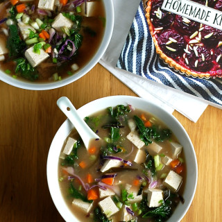 miso soup with vegetables