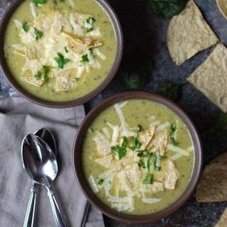 Spinach and Artichoke Soup with Cheese