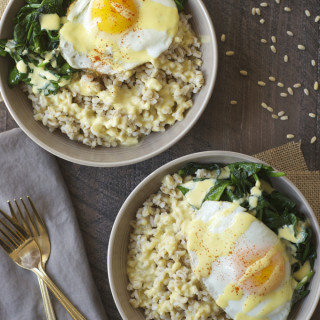 Eggs Florentine Grain Bowls with Yogurt Hollandaise