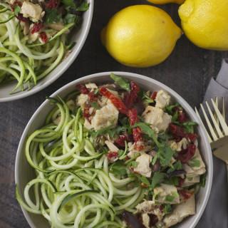 Zucchini Noodles with Tuna Puttanesca