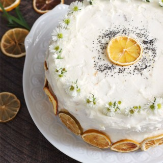 Lemon Poppy Layer Cake