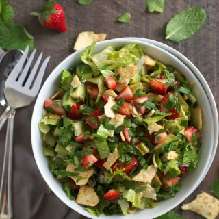 Strawberry Fattoush Salad