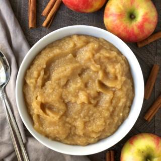 Homemade Caramel Applesauce