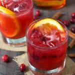 Three Ingredient Cranberry Bourbon Cocktail