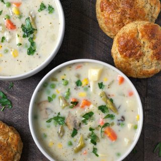 Vegetable Pot Pie Soup