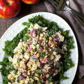 Chicken Quinoa Waldorf Salad with Kale