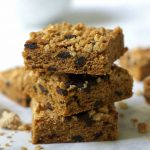 Healthier Granola Blondies with Chocolate Chunks