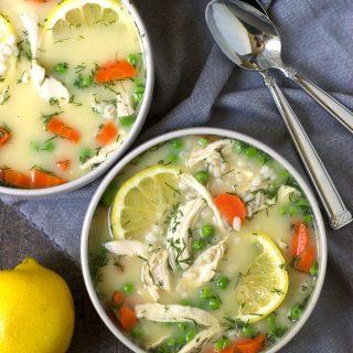 Vegetable Barley Avgolemono (Greek Lemon Chicken Soup)
