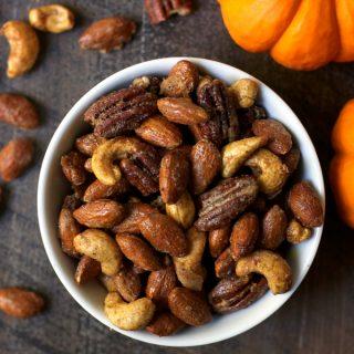 Salty Sweet Pumpkin Spice Nuts