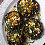 Greek Spinach and Feta Stuffed Mushrooms